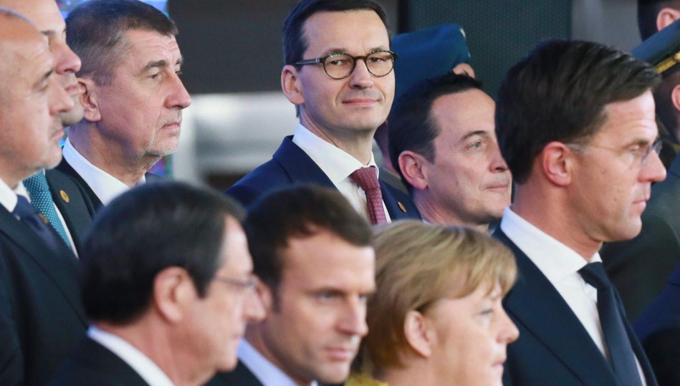 Premier Mateusz Morawiecki bierze udział w szczycie UE (fot. PAP/EPA/OLIVIER HOSLET)