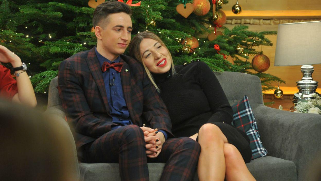 Dla tej pary to pierwsze wspólne Boże Narodzenie (fot. TVP)