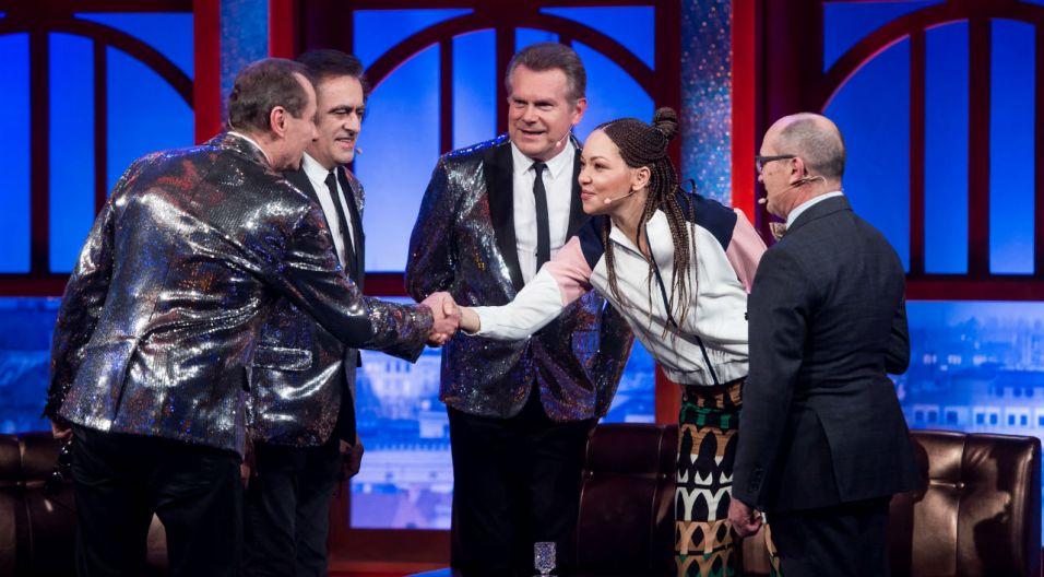 Witold Paszt z kolegami opowiedzieli o współpracy z legendarnym kabaretem Zenona Laskowika (fot. TVP)
