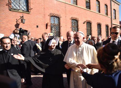 Papież Franciszek w Łagiewnikach