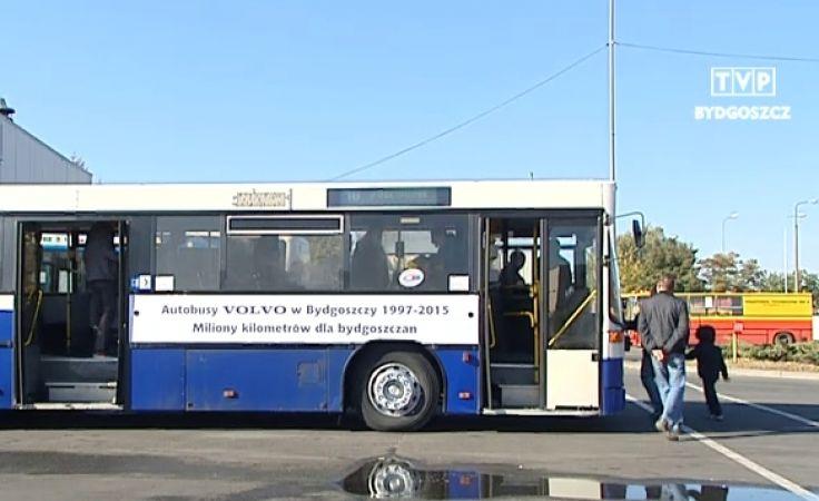 Ostatni kurs autobusów Volvo po Bydgoszczy