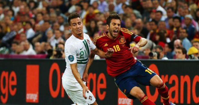 Joao Pereira i Jordi Alba (fot. Getty Images)