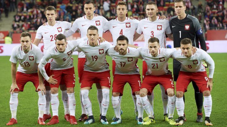Reprezentacja Polski przed meczem z Meksykiem (fot. PAP/Adam Warżawa)