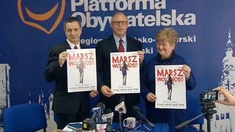 Parlamentarzyści PO zapraszali także do udziału w Marszu Wolności 6 maja w Warszawie
