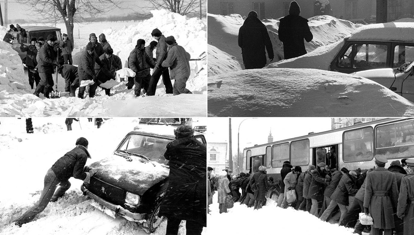 Zaspy, śliskie chodniki – zimowa codzienność (fot. arch.PAP/Bolesław Miedza/Edmund Uchymiak/Ireneusz Radkiewicz/Andrzej Rybczyński)