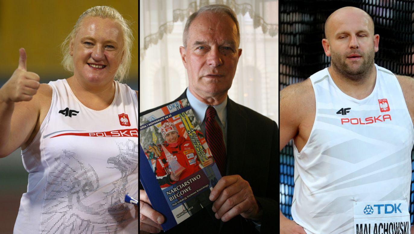 Ewa Durska (L),  Szymon Krasicki (C), Piotr Małachowski (P) (fot. Francois Nel/Getty Images, PAP/Jacek Bednarczyk, Diego Azubel)