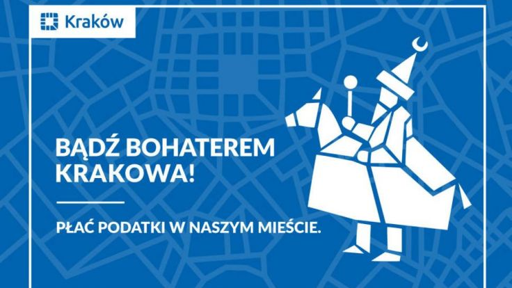 """Ostatnia akcja informacyjno – promocyjna była prowadzona pod hasłem """"Bądź bohaterem Krakowa"""", a jej symbolem był Lajkonik"""