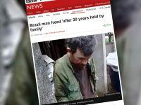 20 lat był trzymany w niewoli przez rodzinę. Brazylijska policja uwolniła mężczyznę z komórki
