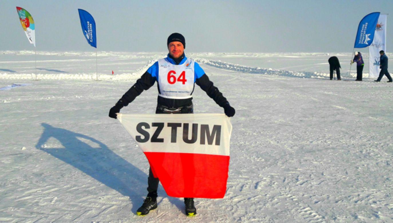 Bartosz Mazerski wygrał Baikal Ice Marathon i pobił rekord trasy (fot. arch. pryw.)