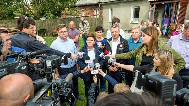 Gwałtowne nawałnice przeszły nad Polską w nocy z 11 na 12 sierpnia (fot. PAP/Tytus Żmijewski)