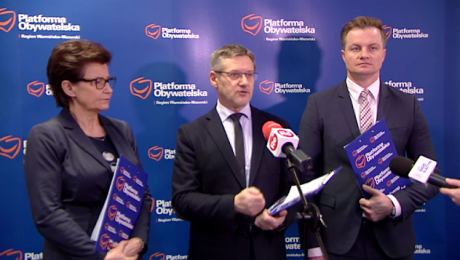 Z dziennikarzami spotkali się Anna Wasilewska, Janusz Cichoń oraz Marcin Kuchciński