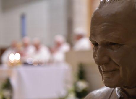 Poświęcenie popiersia Jana Pawła II