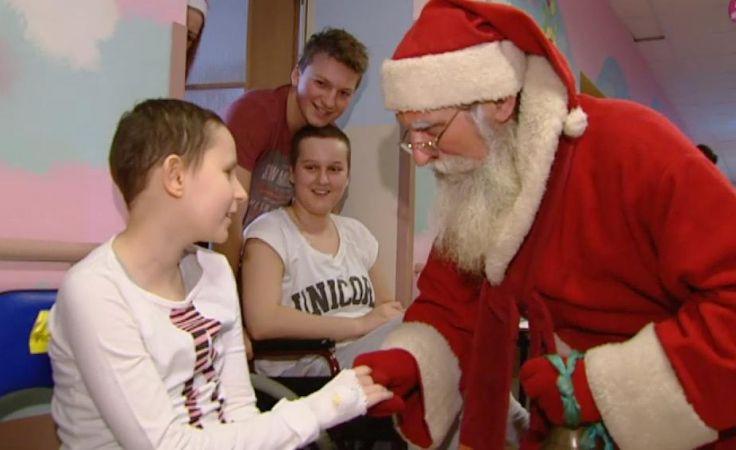 Szpital Dziecięcy odwiedził dziś prawdziwy, warmiński święty Mikołaj.