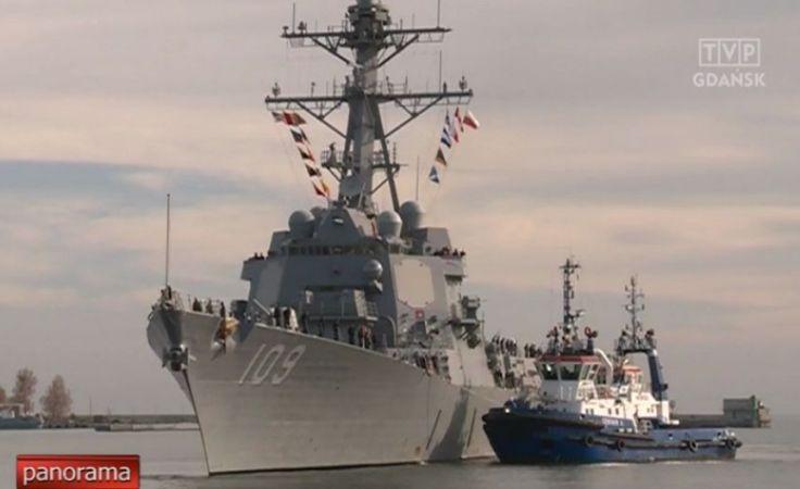 Amerykański niszczyciel rakietowy w Gdyni