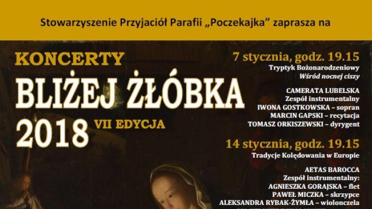 """fot. plakat organizatora (koncerty """"Bliżej żłóbka"""")"""