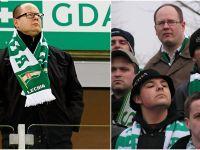 Kibic Lechii Gdańsk żegna prezydenta Adamowicza