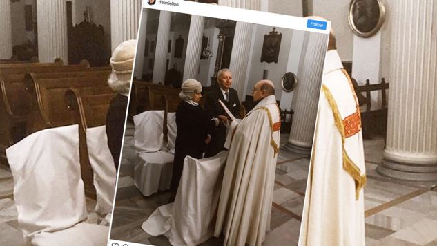 W jednym z warszawskich kościołów pobrała się para 90-latków (Fot. Instagram / @daaniello)