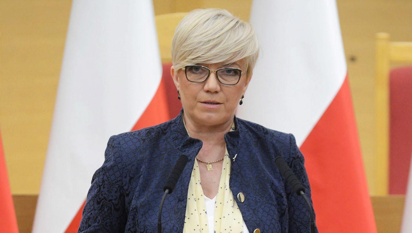 Prezes Trybunału Konstytucyjnego Julia Przyłębska (fot. PAP/Jakub Kamiński)