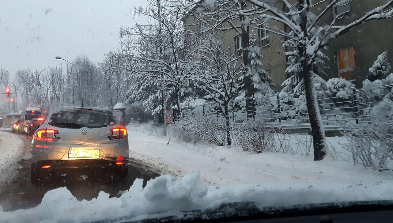 Zima zaatakowała na Śląsku (fot. tt/Daw_Kam)