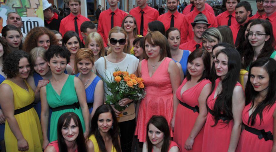 Na uroczystości nie zabrakło Joanny Moro (fot. I. Sobieszczuk/TVP)