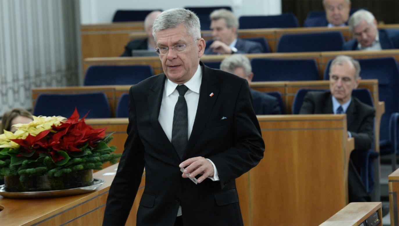 Stanisław Karczewski poinformował, że Senat zajmie się Kodeksem wyborczym na następnym posiedzeniu (fot. PAP/Jacek Turczyk)