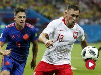 Skrót meczu Polska – Kolumbia