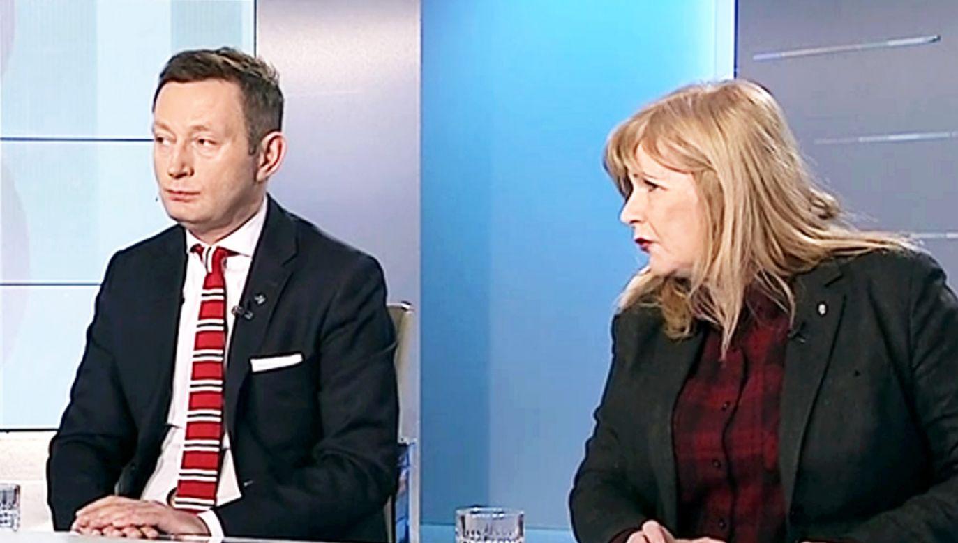 Paweł Rabiej i Małgorzata Gosiewska w programie