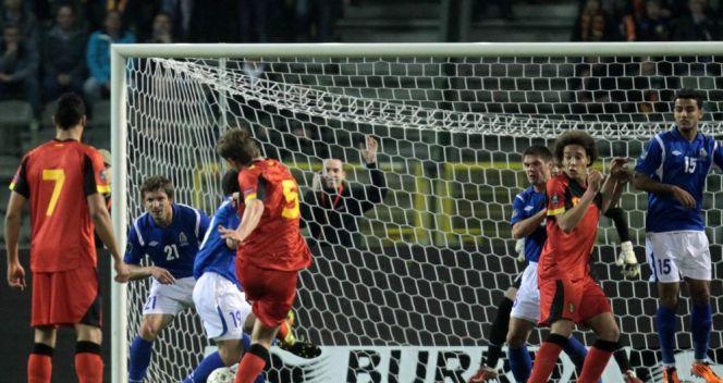 Jan Vertonghen otworzył wynik spotkania Belgia – Azerbejdżan (fot. PAP/EPA)