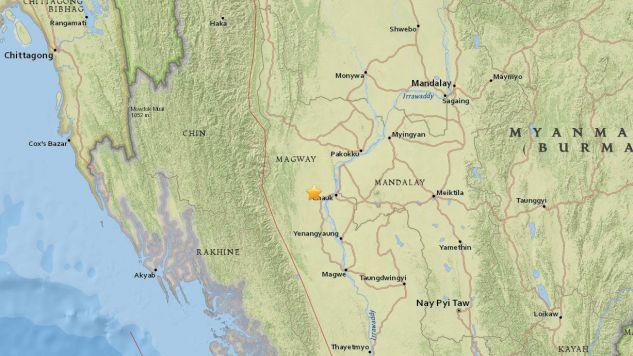 Epicentrum znajdowało się około 25 kilometrów od miasta Chauk (fot. PAP/EPA/USGS)