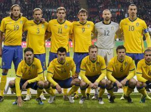 Reprezentacja Szwecji (fot. PAP/EPA)