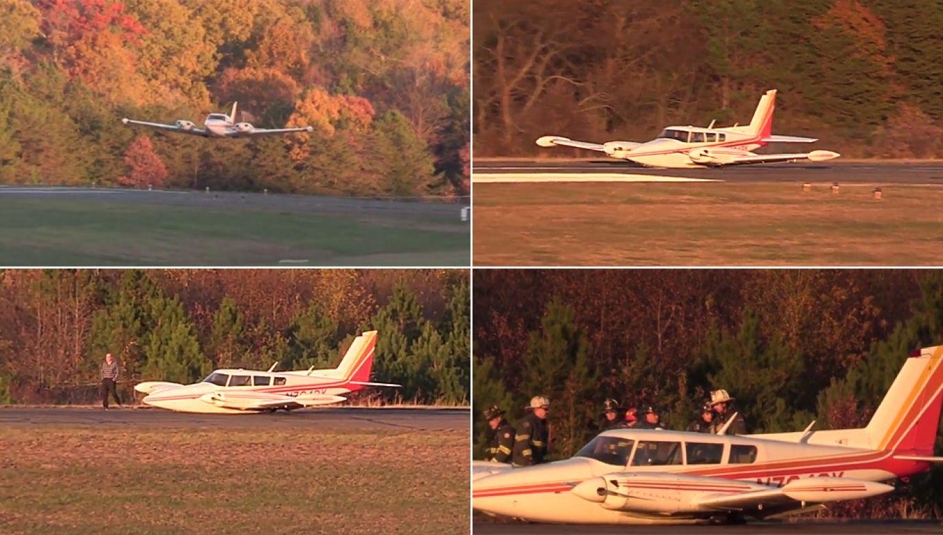 Pilot wykazał się mistrzowskim opanowaniem (fot. YT/Southern Maryland News Net)