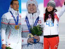 Zbigniew Bródka, Kamil Stoch, Justyna Kowalczyk (fot. Getty Images)