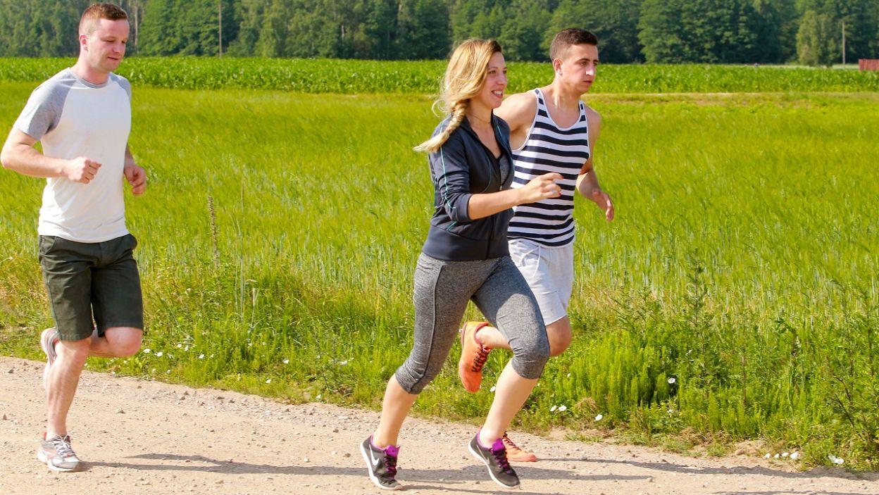 Małgorzata zaczyna dzień od biegania (fot. TVP)