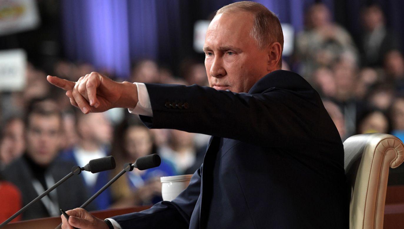 Putin odniósł się do katastrofy smoleńskiej podczas czwartkowego spotkania z dziennikarzami (fot. Sputnik/Alexei Nikolsky/Sputnik via REUTERS ATTENTION EDITORS)