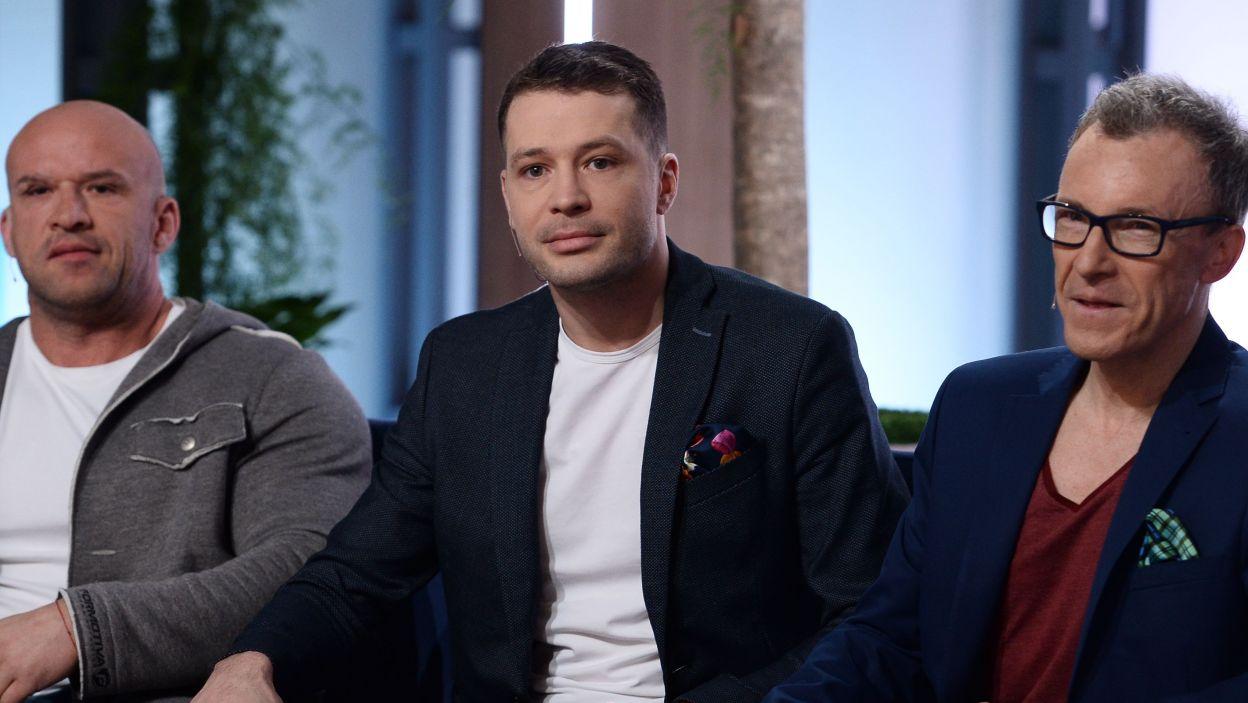 Andrzej Młynarczyk, Tomasz Oświęcimski i Jerzy Petersburski J. (fot. Jan Bogacz/ TVP)