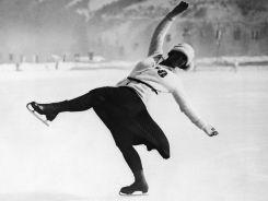 Austriakcja łyżwiarka figurowa Herma Planck-Szabo (fot. Getty Images)