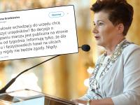 Gronkiewicz-Waltz pisze o zastraszaniu jej urzędników przez posłów