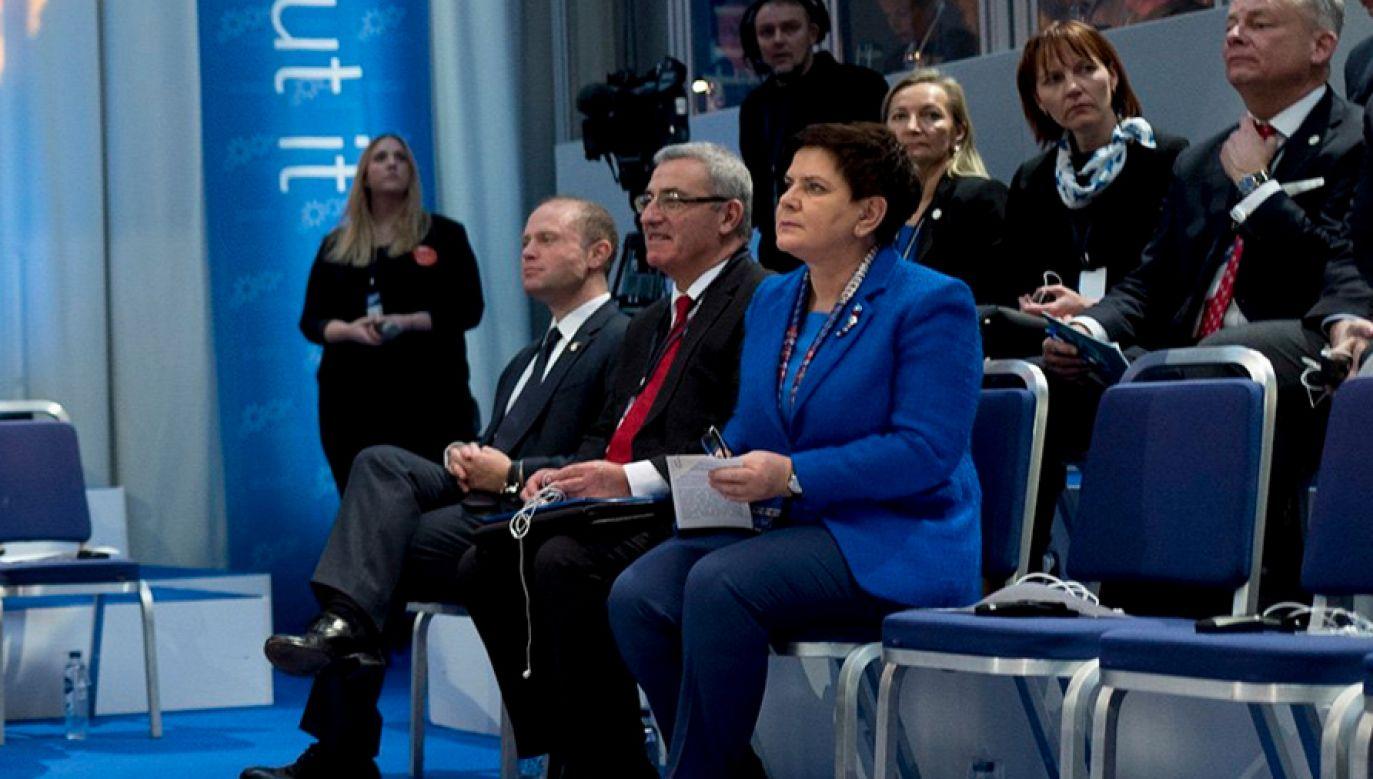 Premier Beata Szydło bierze udział w Europejskim Szczycie Społecznym w Göteborgu (fot. KPRM/TT)