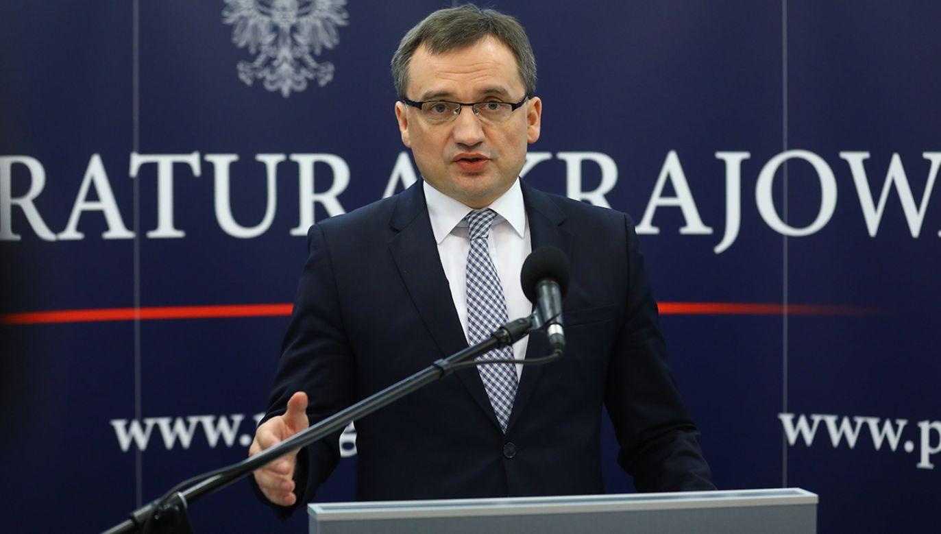 Prokurator Generalny, minister sprawiedliwości Zbigniew Ziobro (fot.  PAP/Rafał Guz)