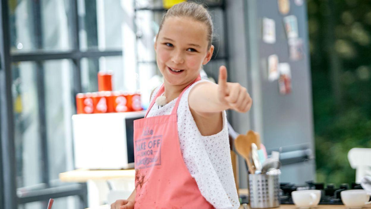 Julia w programie bardzo rozwinęła się cukierniczo. Czy na tyle, aby wygrać program? (fot. TVP)