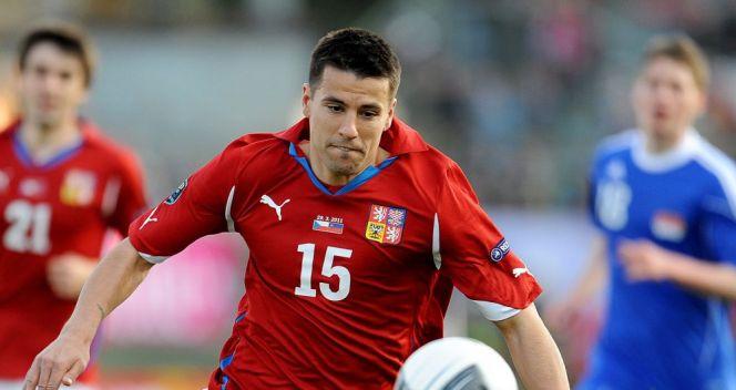 Milan Baros już w 3. minucie wpisał się na listę strzelców w meczu Czechy – Liechtenstein (fot. PAP/EPA)