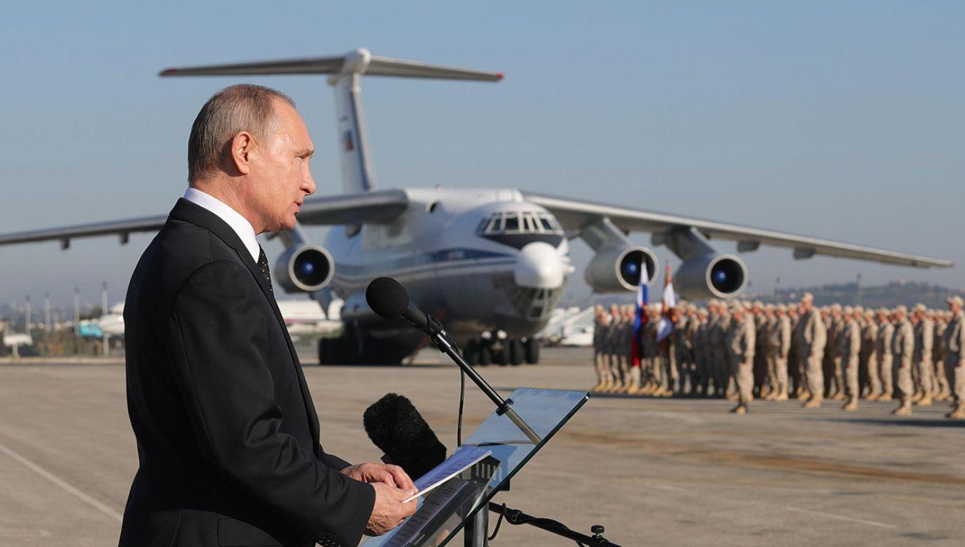 Po przeszło dwóch latach kampanii Rosjanom udało się osiągnąć militarne cele w Syrii (fot. PAP/EPA/MICHAEL KLIMENTYEV / SPUTNIK / KREMLIN POOL)