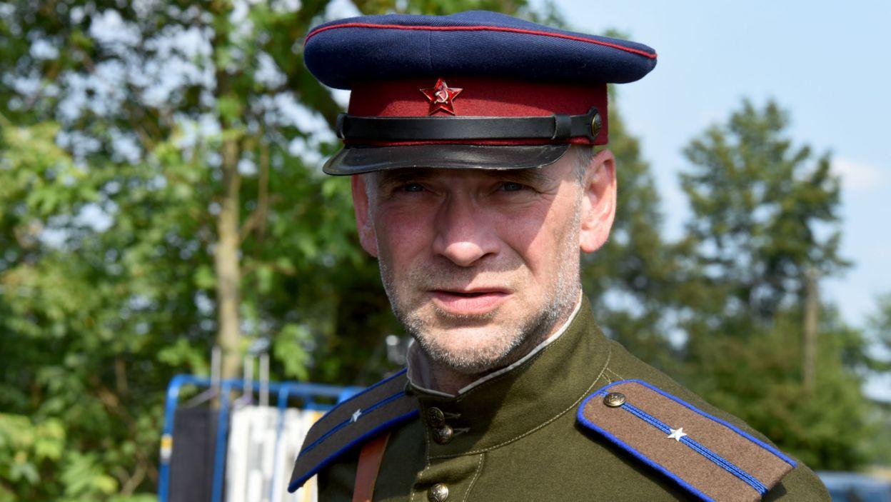 Sławomir Pacek w roli żołnierza Armii Czerwonej  (fot. Agata Ciołek)