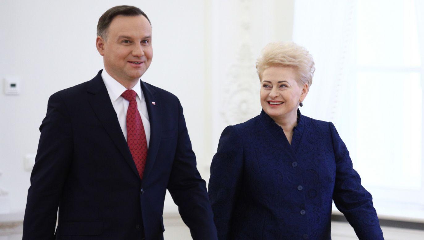Andrzej Duda i Dalia Grybauskaite (fot. PAP/Leszek Szymański)