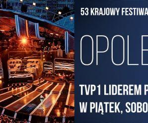 Festiwal Piosenki w Opolu- TVP1 liderem pasma w piątek, sobotę i niedzielę!