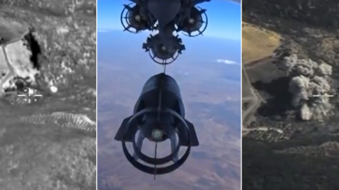 Rosja od końca września bombarduje cele w Syrii (fot. PAP/EPA/RUSSIAN DEFENCE MINISTRY PRESS SERVICE/HANDOUT)