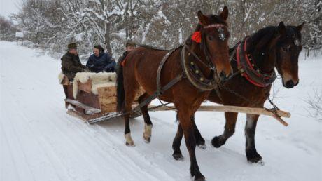 Zima w regionach w Mucznem