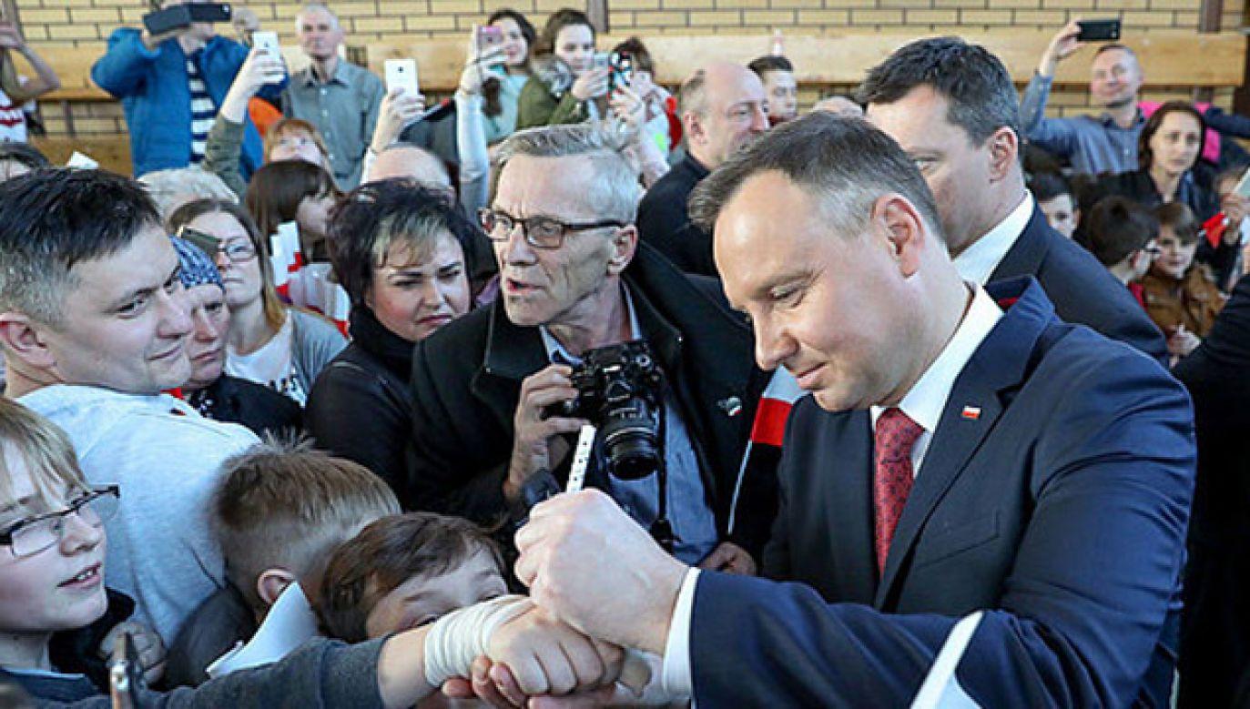 Prezydent Andrzej Duda spotka się z mieszkańcami Krosna Odrzańskiego (fot. PAP/Krzysztof Sitkowski)