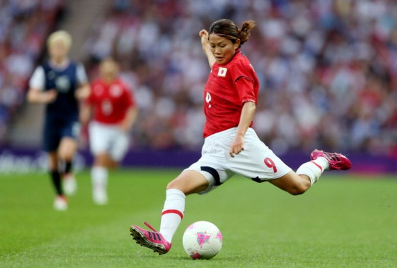 Nahomi Kawasumi stzrela na bramkę USA (fot.Getty Images)