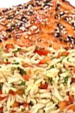 Łosoś z sałatką